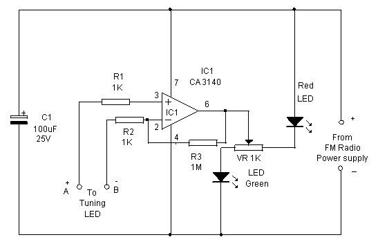 precise fm tuning indicator - signal processing - circuit diagram