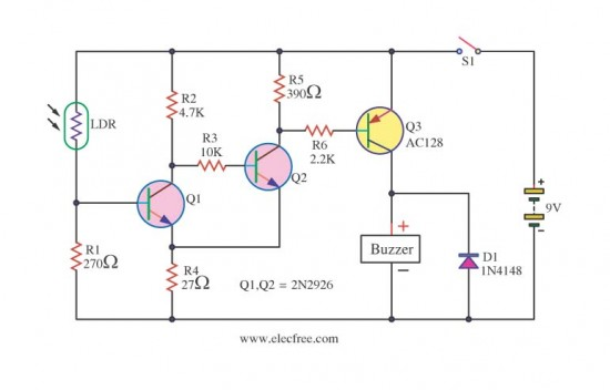 DIY LDR Switch Circuits - Control_Circuit - Circuit Diagram - SeekIC.com