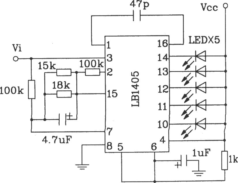 the typical application circuit of lb140 5