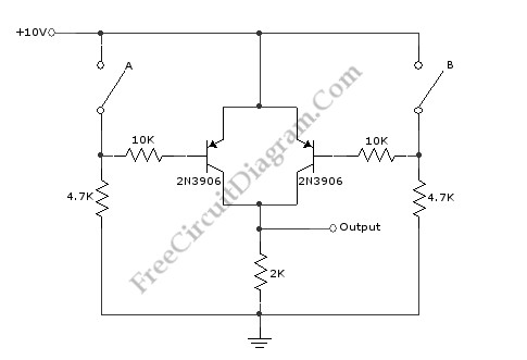 basic logic gate with pnp transistor basic circuit circuit rh seekic com