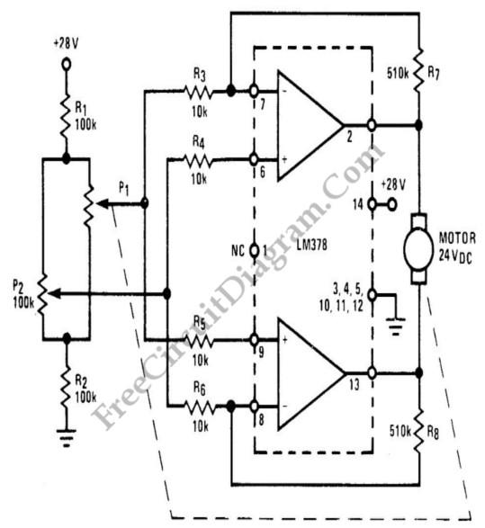 lm378 24 v dc proportional motor speed control