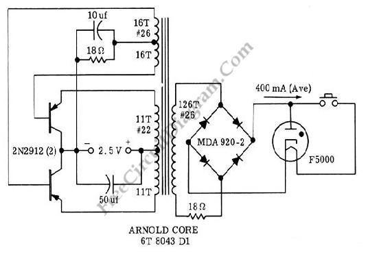 black light  uv tube lamp  inverter - power supply circuit - circuit diagram