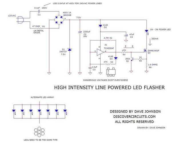 high intensity line powered led flasher dec 8 2008. Black Bedroom Furniture Sets. Home Design Ideas