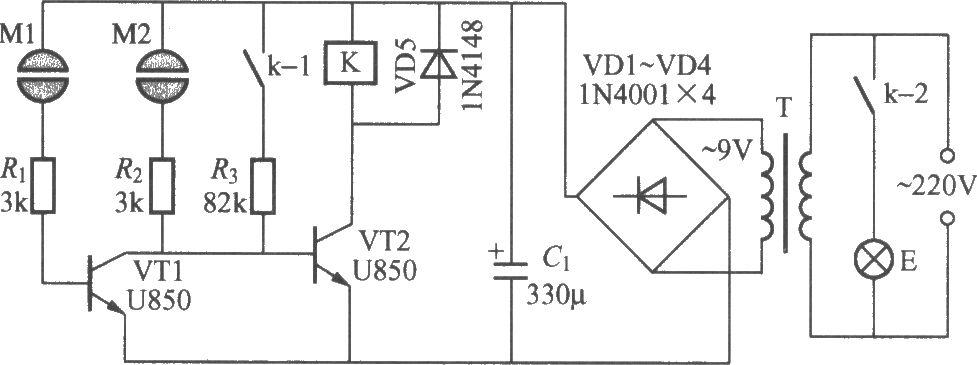 Double-key touching lamp switch circuit (3) - Basic_Circuit ...