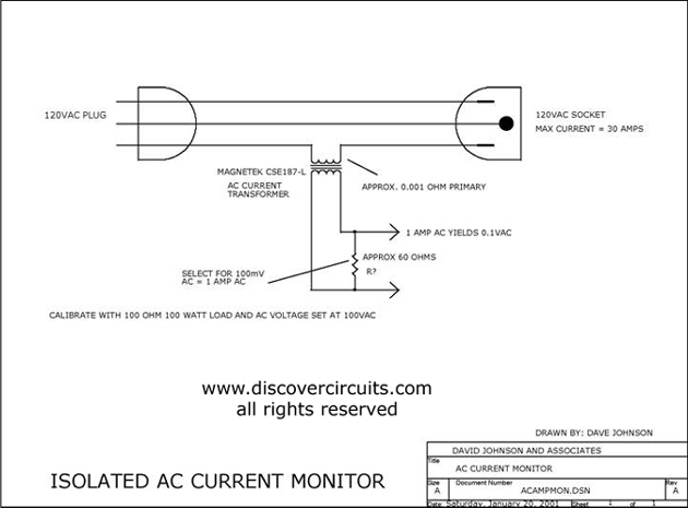 isolated ac current monitor basic circuit circuit. Black Bedroom Furniture Sets. Home Design Ideas
