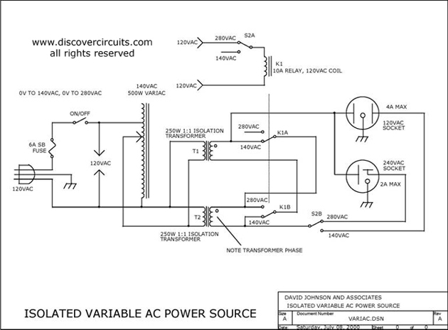 variable isolated ac voltage spans 0vac to 280vac power. Black Bedroom Furniture Sets. Home Design Ideas