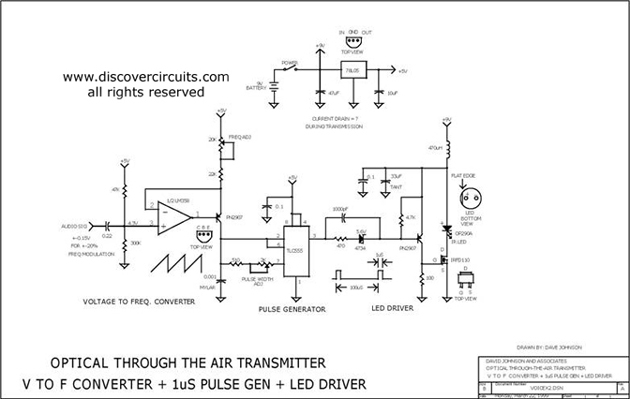 Voltage To Frequency Converter   1us Led Pulse Driver