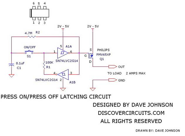 on off latch circuit 6 basic circuit circuit diagram seekic com rh seekic com D Latch Circuit Latch Circuit That Will