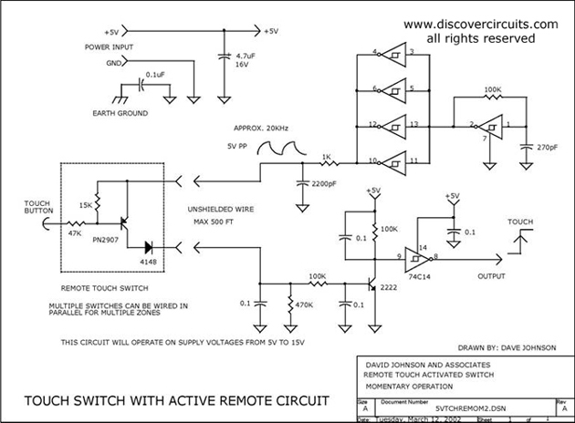 5 VOLT MOMENTARY OPERATION TOUCH SWITCH - Basic_Circuit ...  Volt Circuit Diagram on