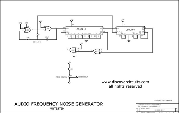 Audio Frequency Signal Generator : Audio frequency digital noise generator