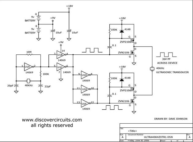 on 40khz Ultrasonic Sensor Schematic