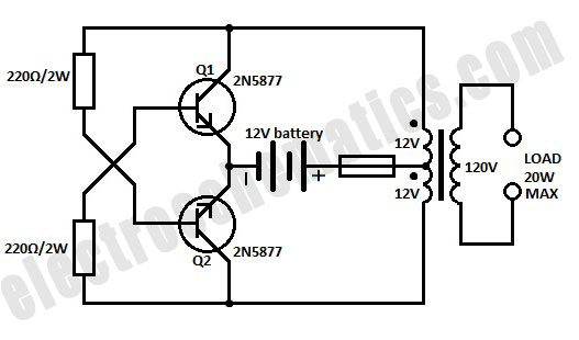 12v dc to 120v ac inverter circuit