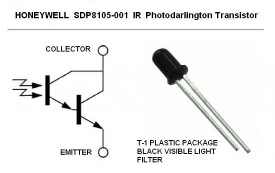 honeywell sc8105 001 ir photodarlington transistor basic circuit circuit diagram. Black Bedroom Furniture Sets. Home Design Ideas