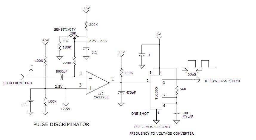 1us light pulse discriminator plus f to v converter Converter Electronic Circuit Diagrams