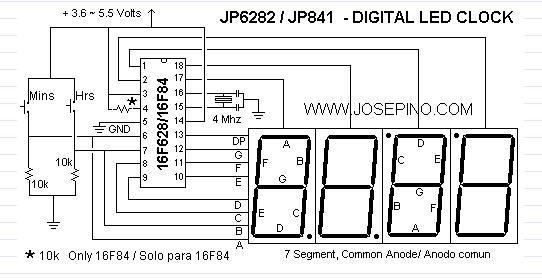 12hr led clock 2 control circuit circuit diagram. Black Bedroom Furniture Sets. Home Design Ideas