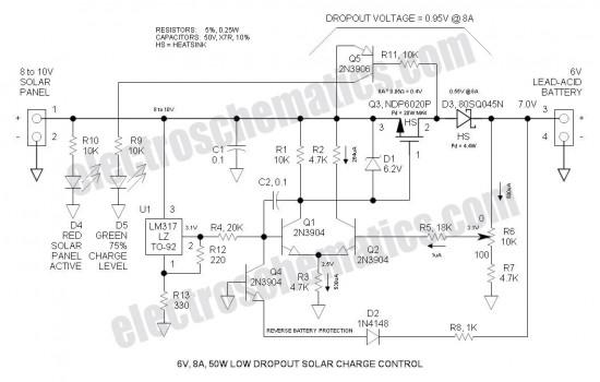 6V LDO Solar Charge Controller - Control_Circuit - Circuit