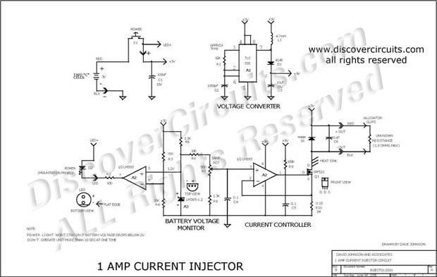 amp current injector circuit - control circuit - circuit diagram