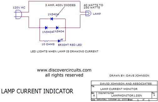 Indicador de corrente elétrica.  Индикатор электрический ток.