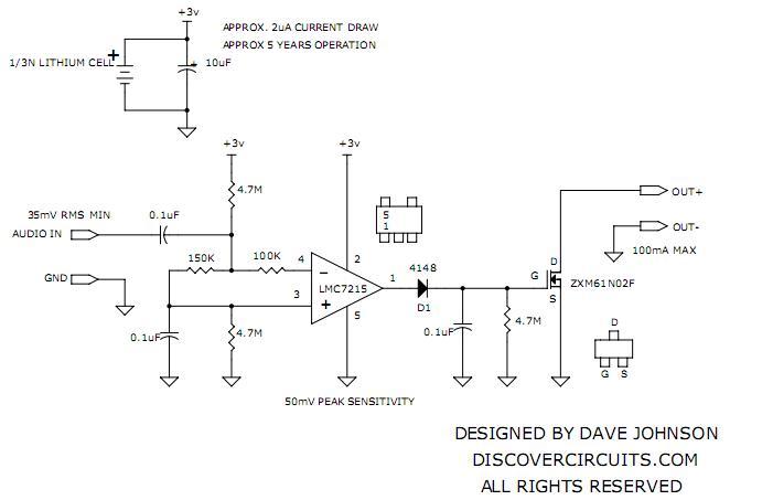 Audio Signal Detector Switch Basiccircuit Circuit Diagram - Wiring