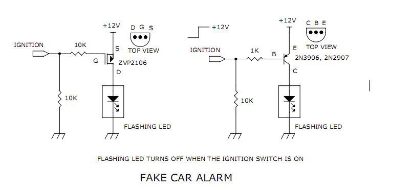 fake car alarm lights led and light circuit circuit. Black Bedroom Furniture Sets. Home Design Ideas