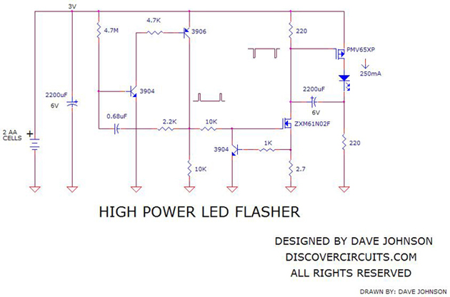 high power led flasher led and light circuit circuit. Black Bedroom Furniture Sets. Home Design Ideas