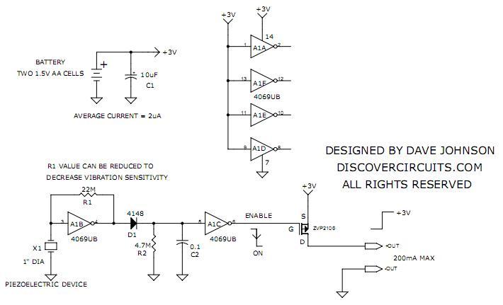 Piezoelectric Triggered Switches Controlcircuit Circuit Diagram