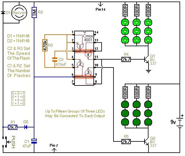flashing led doorbells 3 audio circuit circuit diagram seekic com rh seekic com