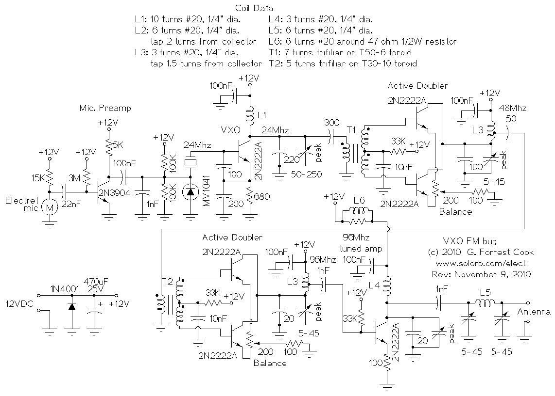 Vxo Fm Bug Electrical Equipment Circuit Diagram Http Wwwseekiccom Circuitdiagram Amplifiercircuit Darkcurrent Bughtml