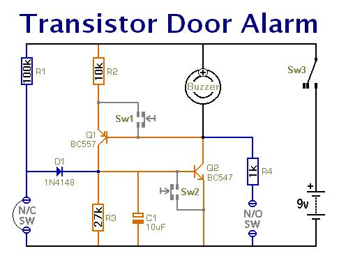 basic transistor switches controlcircuit circuit diagram seekic simple door or shed alarm schematic diagram auto wiring diagram basic transistor switches controlcircuit circuit diagram seekic