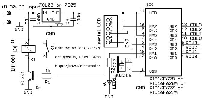 Groovy Electronic Combination Lock Based On Pic 2 Control Circuit Wiring Cloud Pendufoxcilixyz