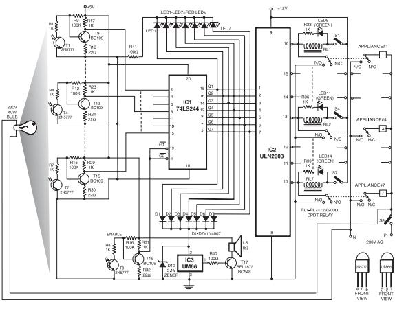 electronic card-lock system - control circuit