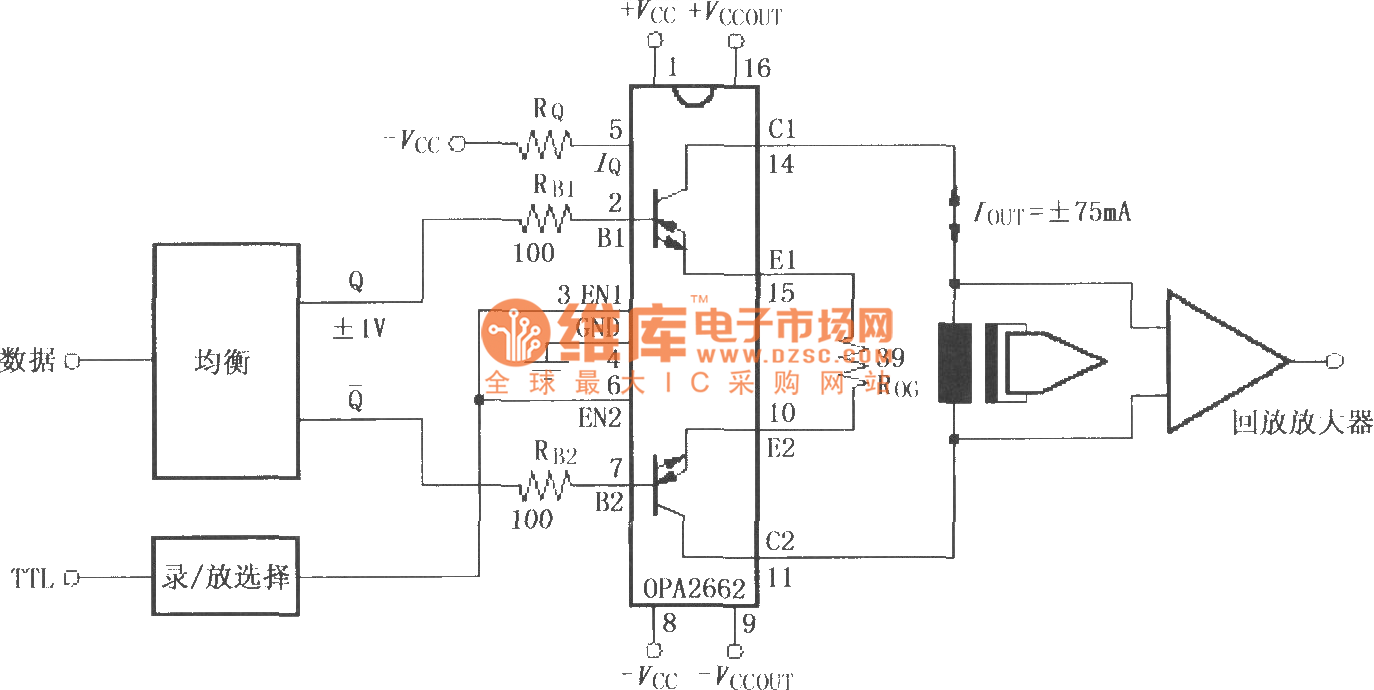 Analog Digital Video Tape Recording Amplifier Circuit With Double 555 Internal 555circuit Diagram Seekiccom Broadband Transconductance Operational Opa2662