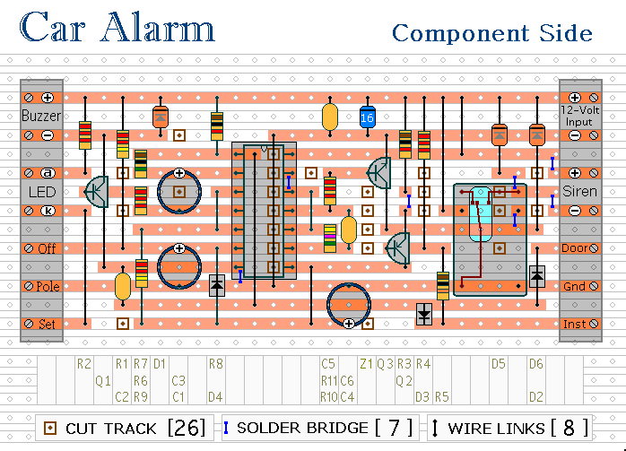 car alarm and immobilizer circuit 2