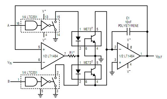 low droop track-and-hold  peak detector circuit