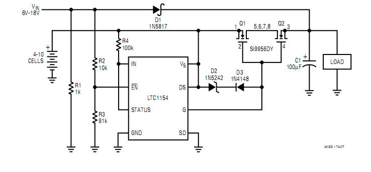 Bidirectional Switch Using Two Back To Back Mosfets Control Circuit Circuit Diagram Seekic Com
