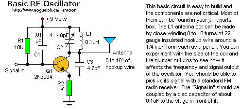 basic rf oscillator 1 basic_circuit circuit diagram seekic combasic rf oscillator 1