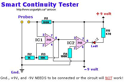 Continuity tester smart measuringandtestcircuit circuit continuity tester smart ccuart Choice Image