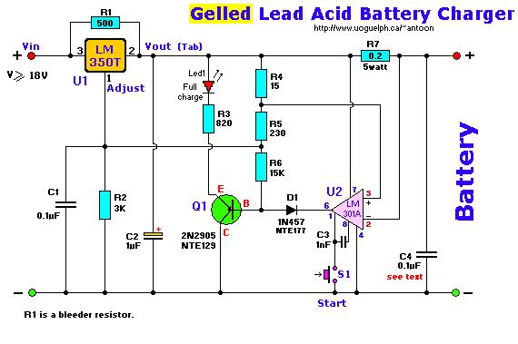 gel cell charger i power supply circuit circuit diagram rh seekic com
