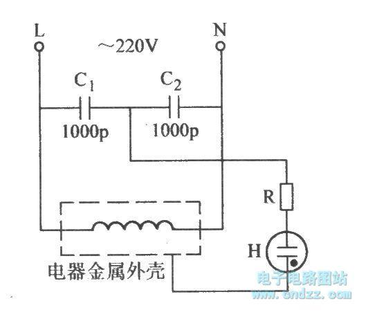 leakage indicator circuit - basic circuit - circuit diagram