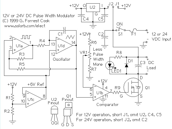 Pwm Motor Speed Controller Dc Light Dimmer Control