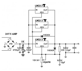 lm317 variable power supply circuit lm317 power supply