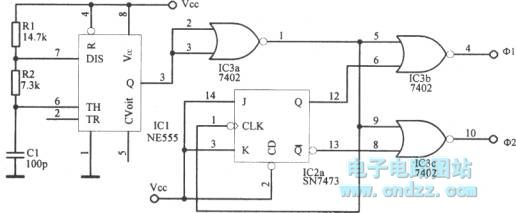 two-phase clock oscillator with 1mhz highest frequency - oscillator circuit