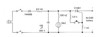 nicad battery zapper power_supply_circuit circuit diagram