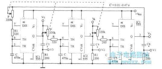 closed-loop three-phase multivibrator - oscillator circuit - signal processing