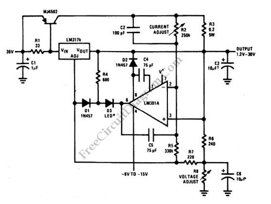 5 a constant voltage-constant current regulator