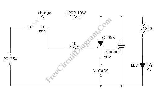 The Ni-Cad Battery Zapper, A Rechargeable Battery Reconditioner -  Battery_Charger - Power_Supply_Circuit - Circuit Diagram - SeekIC.com | Rechargeable Battery Wiring Diagram |  | SeekIC.com