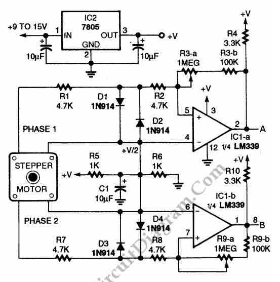 rotary encoder schematic with Digital Encoder Circuit Diagram Using Stepper Motor on Encoder Wiring Diagram likewise Esp8266 Thermostat First Esp 12e Circuit also Servo Motor Wiring Diagram likewise 8 3 Encoder Circuit Diagram in addition Digital Encoder Circuit diagram Using Stepper Motor.