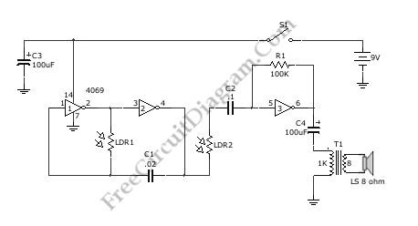 optical theremin basic circuit circuit diagram seekic com rh seekic com