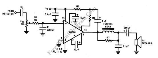 audio power amplifier circuit for am radio