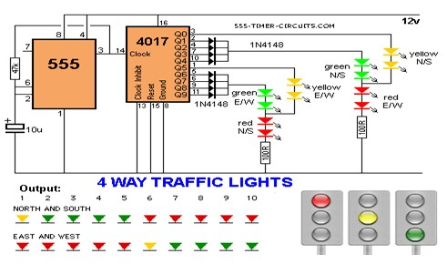 4 way traffic light circuit diagram - wirdig,Wiring diagram,Wiring Diagram For Traffic Light